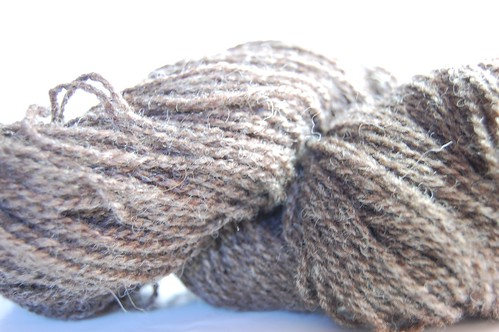 Brown handspun from Beaver Brook Farm