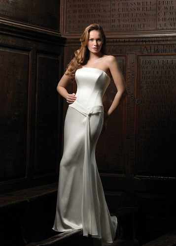Silk wedding dress with a choice.