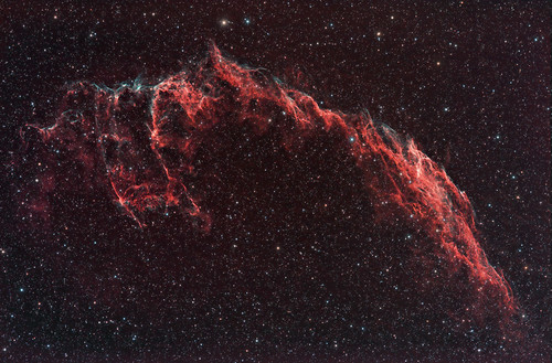 NGC6992 The Eastern Veil Nebula in Constellation Cygnus