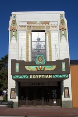 The Egyptian Theatre, DeKalb, Illinois, (Onasill ~ Bill Badzo) Tags: old travel usa house cinema glass architecture america vintage movie design town photo site illinois theater king mood theatre structures style atmosphere palace tourist 66 historic il route entertainment national hollywood egyptian historical register venue dekalb tut attraction attractions 1929 motifs egyptology the architure pharaohs nrhp ramasesii placesking tutdekalb countystained onasill delalbcounty