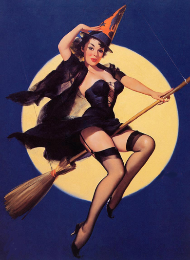 elvgren witch pinup
