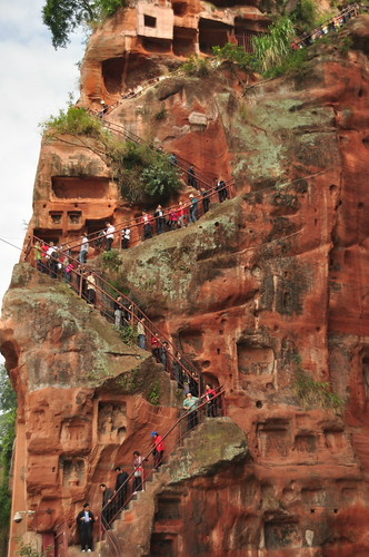 Stairs to Giant Buddha in Leshan