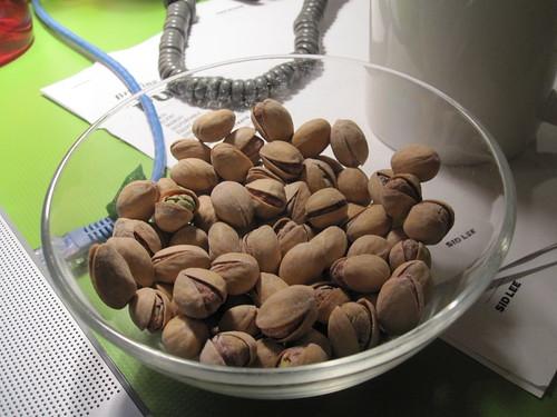 Pistachios from the bistro - free