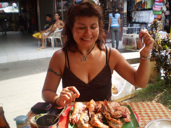 Attacking the 10 foot prawns
