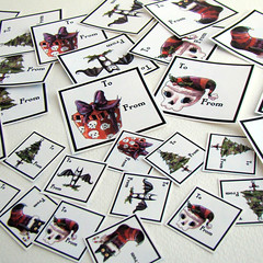 Spooky Christmas Gift Tag Stickers