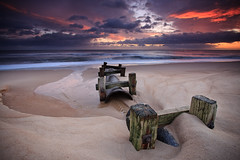 Blyth Beach Outlet Pipe (Alistair Bennett) Tags: seascape beach sunrise coast northumberland posts blyth canonefs1022 outletpipe gnd09he gnd03he