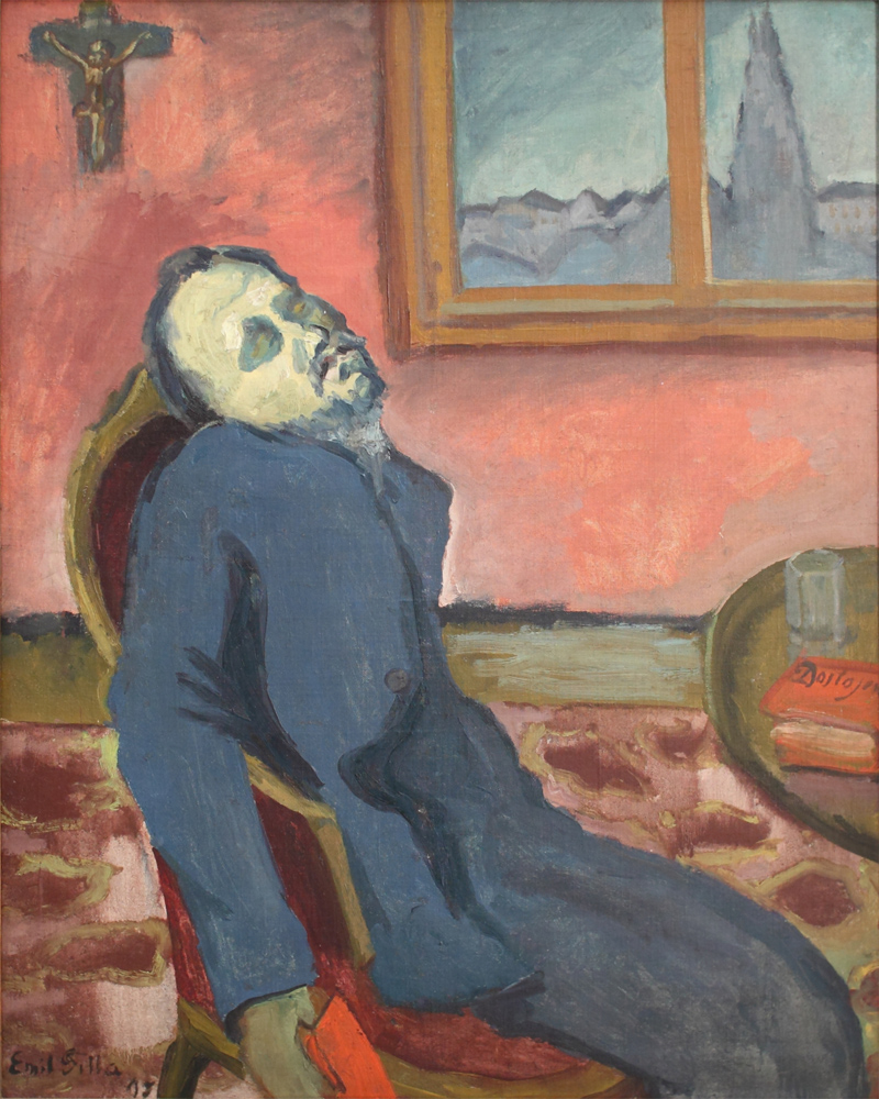 Emil Filla, Dostoyevsky Reader, 1907