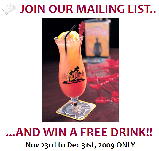 BIG-Join mailing list, free drink
