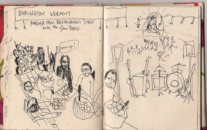 Tour Doodle: Burlington, Vermont 2007 with the Smittens