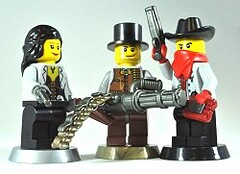 Wild West Trio by Thrash (The Skull Bandit) Tags: brick art home apple movie for tv cowboy call arms lego fig duty ghost engine halo artsy will prototype microsoft amelia minifig minifigs trans custom build cod nerf trade range bionicle figs proto prototypes chapman protos mw2 brickarms mw1