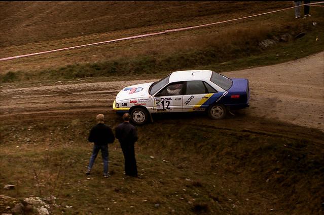 germany deutschland rally racing ddr 1991 würzburg gdr rallye slalom motorsport deutschlandgermany audi200quattro sachsrallyefranken klaushartjen oliverschmidtke