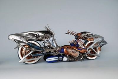 Final Fantasy Play Arts Kai and Shiva Motorcycle