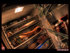 Fresh meat (il COE) Tags: photoshop canon arm meat fisheye madness horror carne refrigerator 16mm hdr coe follia braccio pazzia frigorifero photomatix