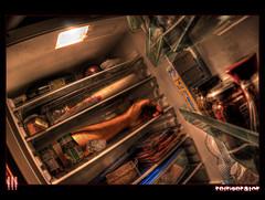 Fresh meat (il COE) Tags: photoshop canon arm meat fisheye madness horror carne refrigerator 16mm hdr coe follia braccio pazzia frigorifero photomatix
