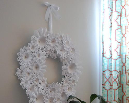 doily christmas wreath