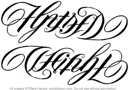 ambigrams tattoos. quot;Hatredquot; amp; quot;Weightquot; Ambigram
