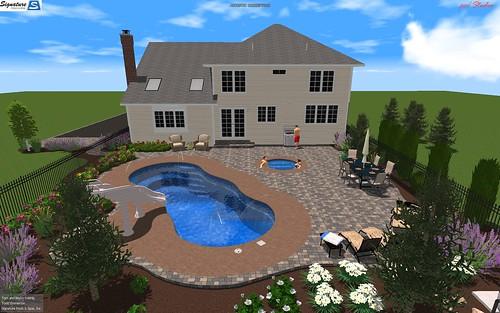 Riviera 34 fiberglass pool