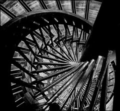 Unexpected Grand Palais (jackfre2) Tags: blackandwhite bw white black paris france stairs grey g grand palace stairway escalier turning whirlin grandpalais perpsective colimaon topseven