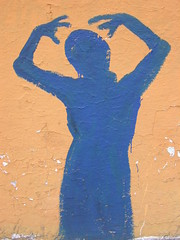 Blue woman (ashabot) Tags: art mexico graffiti streetlife oaxaca