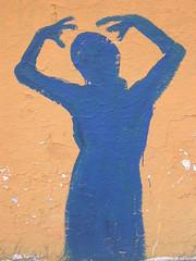 Oaxaca, Mexico - Blue woman (ashabot) Tags: streetart art mexico graffiti streetlife oaxaca walls wallpaintings