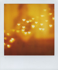 I Love You (Lizzie Staley) Tags: orange yellow catchycolors polaroid sx70 heart bokeh 779 cmwdorange cmwdyellow