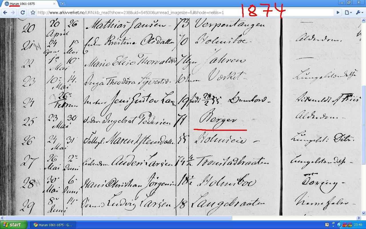 berger 1874 i hurum