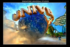 SINGAPORE's UNIVERSAL STUDIOS GLOBE (Kenny Teo (zoompict)) Tags: park light sunset sky orange reflection building tourism water beautiful canon wonderful landscape fun scenery photographer waterfront view ride walk tourist casino best sentosa kenny  universalglobe singaporesentosa zoompict sentosathemepark singaporeuniversal niversalstudiossingapore singaporelowerpiercereservoir
