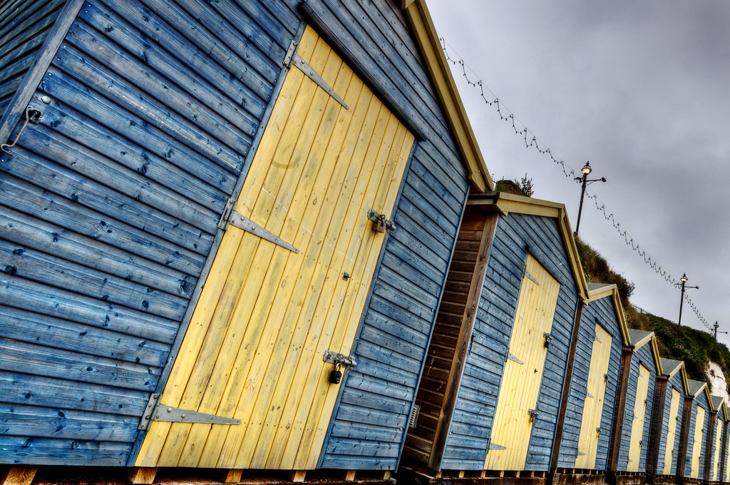 Beach huts at Broadstairs (HDR with Hi Pass Filter)