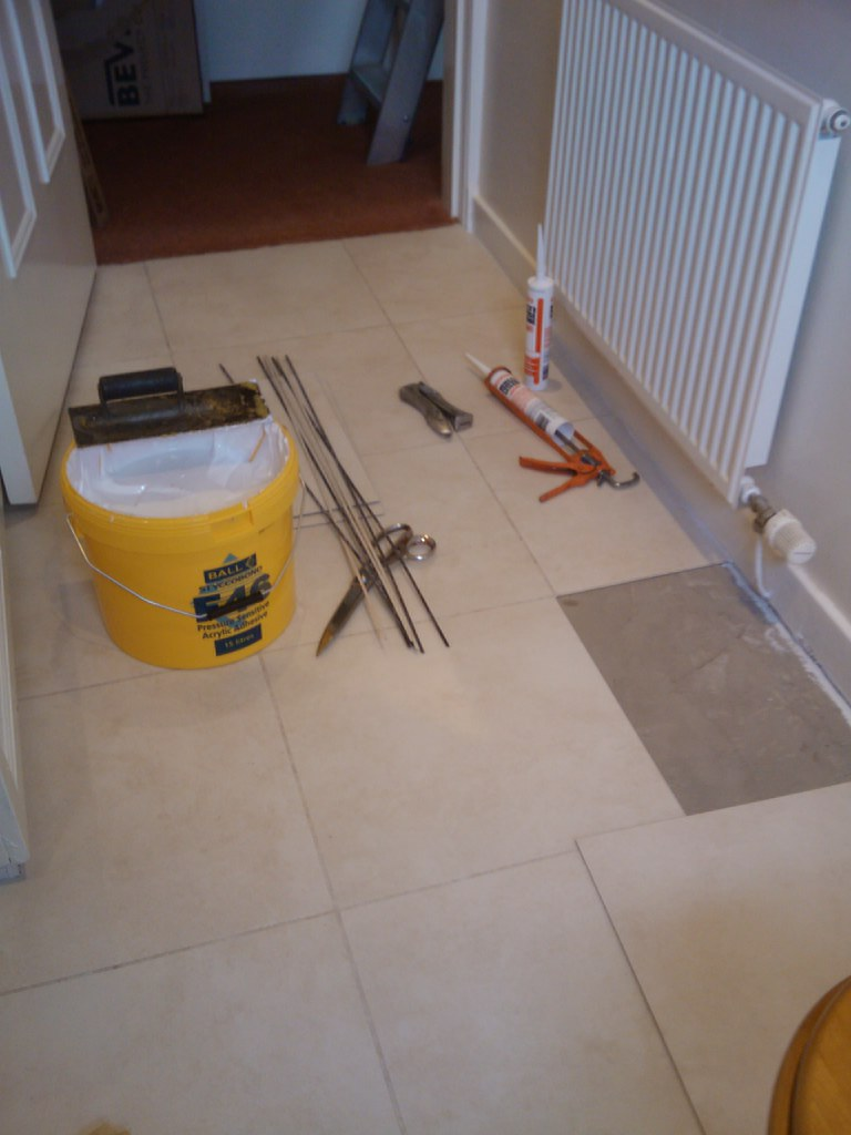 tile and grouting strip
