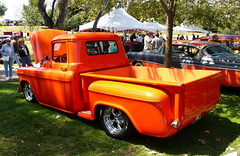 1955 Chevy Pickup (1965 2+2) Tags: cruise 1955 pickup socal chevy hotrod 1955chevy 55 concours huntingtonbeach customs roadster california 55chevy cruisein southern in chevy1955 d 1955chevypickup pickup1955 elegance socal hb hbconcourshotrodintheparkcentralpark pickup55