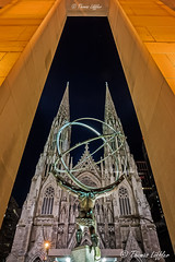 St. Patrick's Cathedral (funtor) Tags: church building architecture manhattan light night city usa nyc