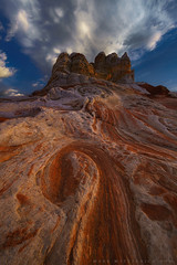 Pockets and Swirls (Mark Metternich) Tags: southwest south desert sandstone sand clouds cloudscape swirl swirls arizona pocket pockets thunderhead thunderstorm markmetternich markmetternichcom workshops workshop remote