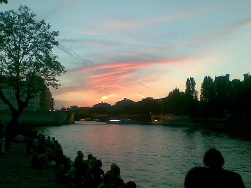 Coucher du soleil parisien