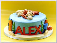 Sea life cake (Milena ) Tags: shells fish cake shark seahorse turtle sealife milen birthaday