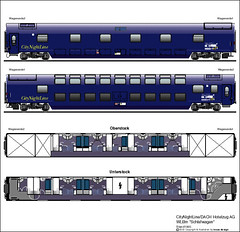 Train Chartering - Carriage plan Euronight Sleeper (Schlafwagen WLBm)
