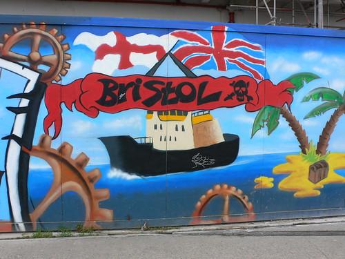 Street-art outside the industrial museum