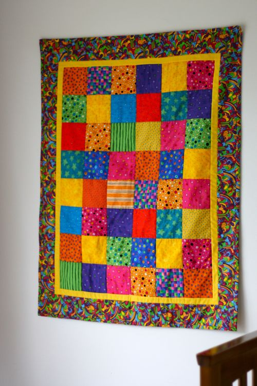 rainbow quilt :: a gift from my mum's bestie