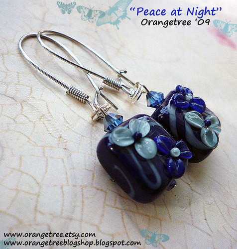 peace at night earrings
