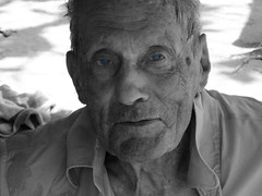 Grandpa (sparkiesworld) Tags: old portrait blackandwhite expression grandfather oldman grandpa elderly portraiture selectivecolour elderlyman