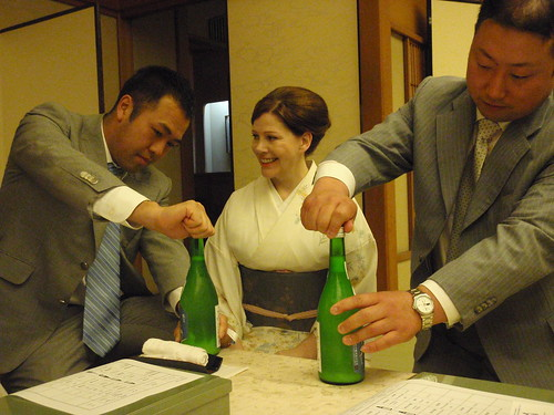 Representantes de sake