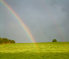 double bow glow (silyld) Tags: blue ireland red orange green yellow rainbow glow cork violet indigo eire fields doublerainbow corcaigh roygbiv goldstaraward irishlight
