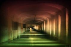 Labyrinth of dreams (Stevacek) Tags: light abandoned shadows zoom corridor eerie creepy communism barracks russians urbex jicin jesuitcollege jin nikond300 jezuitskakolej