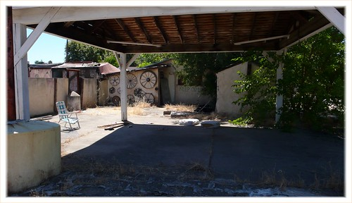Not much left at the former home of noted outsider artist Duke Cahill, Sacramento area.