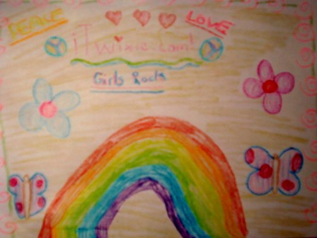 Drawing of a rainbow from an awesome iTwixie tween girl