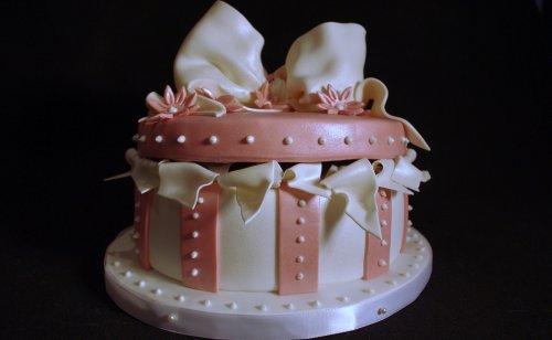 Round Gift Box Cake -- Blog
