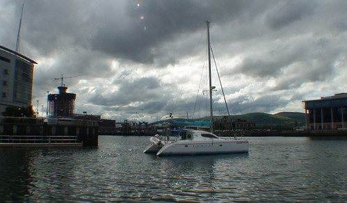 M.A.R.I.N. residency catamaran arrives in Belfast for ISEA2009 and exhibition at Catalyst Arts