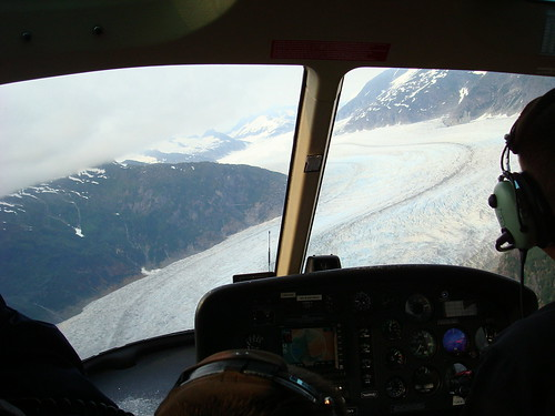 Mendenhall Glacier from the helicopter