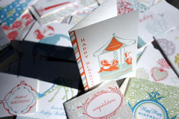 Letterpress Greeting Cards by Smock
