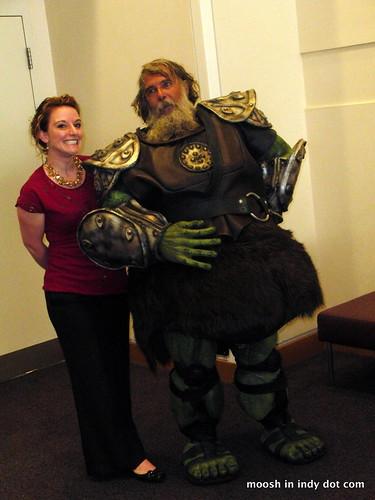 Ogre - Helmet + moosh= this photo.