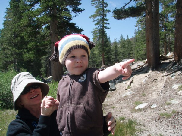 Cam and Nonna in the mountains